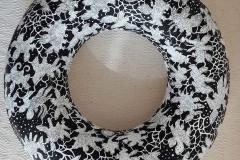 'Multum in parvo', papier-mache, acrylic, 40 cm
